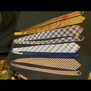 Brown and blue men's ties
